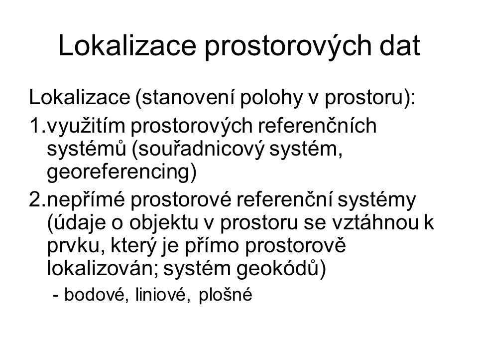 Lokalizace prostorových dat