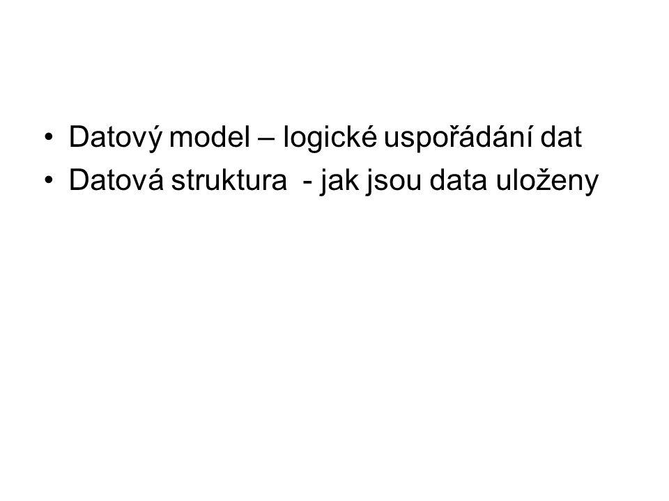 Datový model – logické uspořádání dat