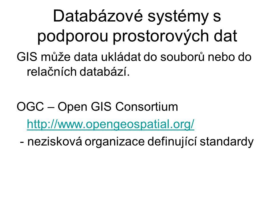 Databázové systémy s podporou prostorových dat