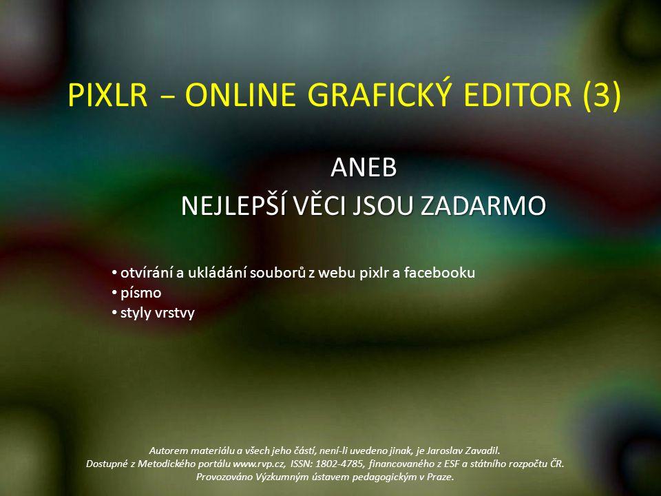 PIXLR − ONLINE GRAFICKÝ EDITOR (3)