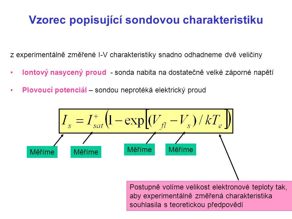 Vzorec popisující sondovou charakteristiku