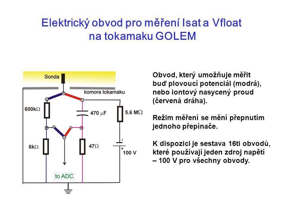 Elektrický obvod pro měření Isat a Vfloat