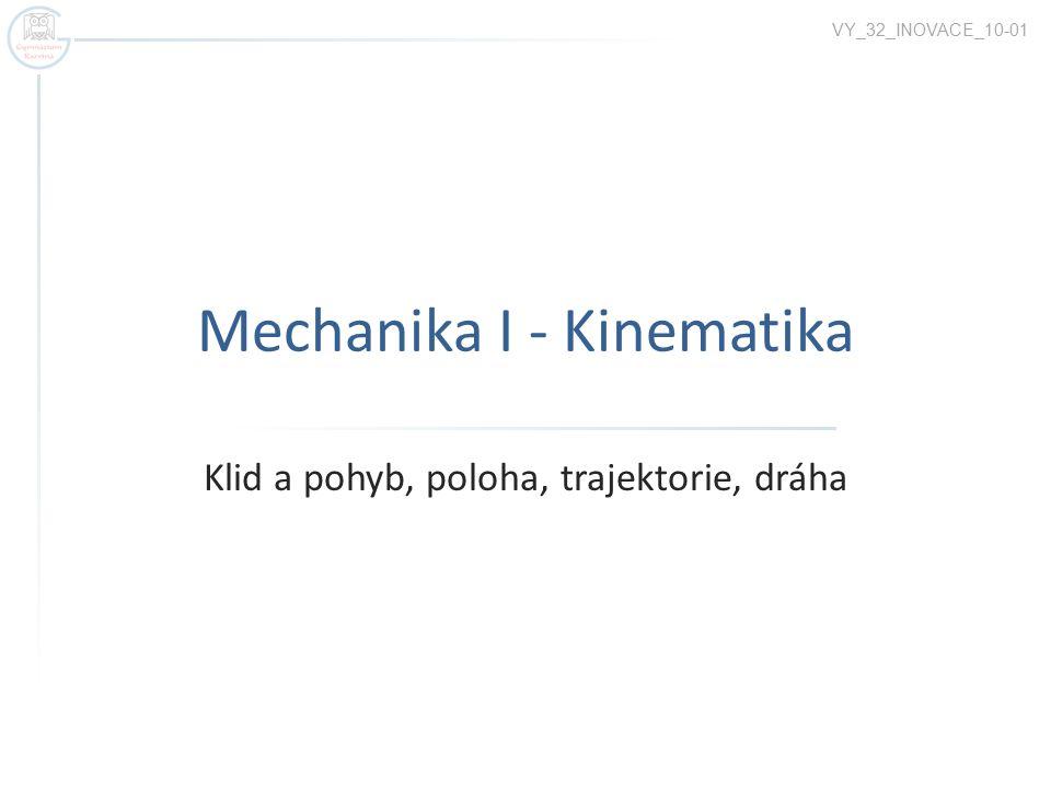 Mechanika I - Kinematika