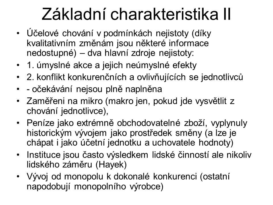 Základní charakteristika II