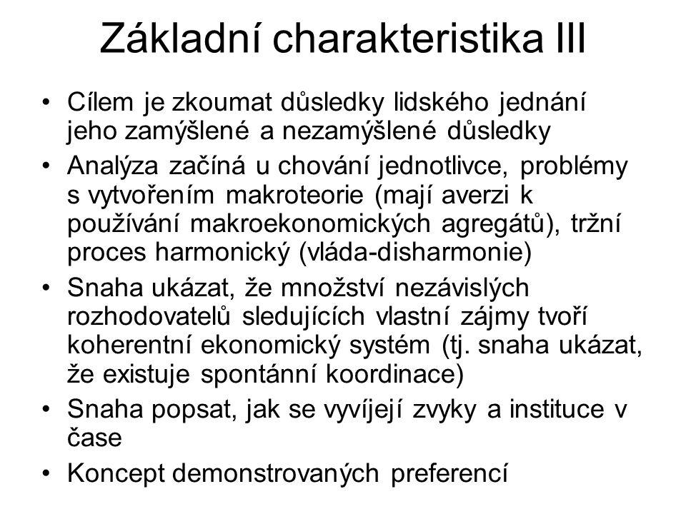 Základní charakteristika III