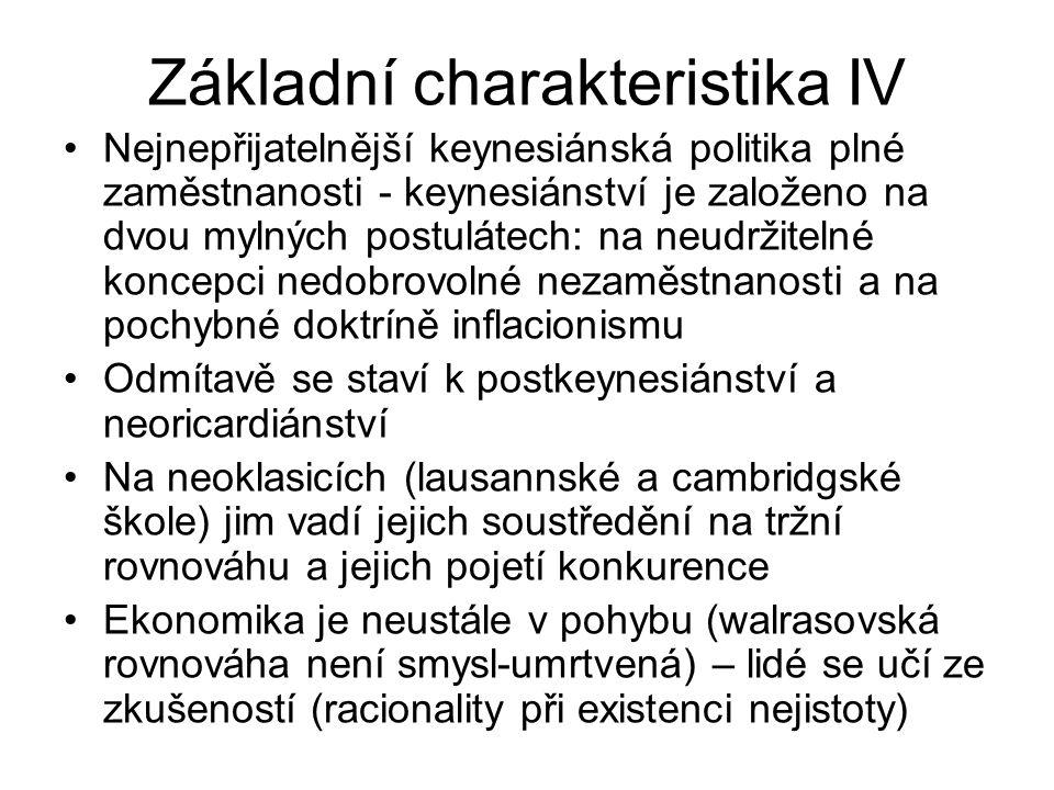 Základní charakteristika IV