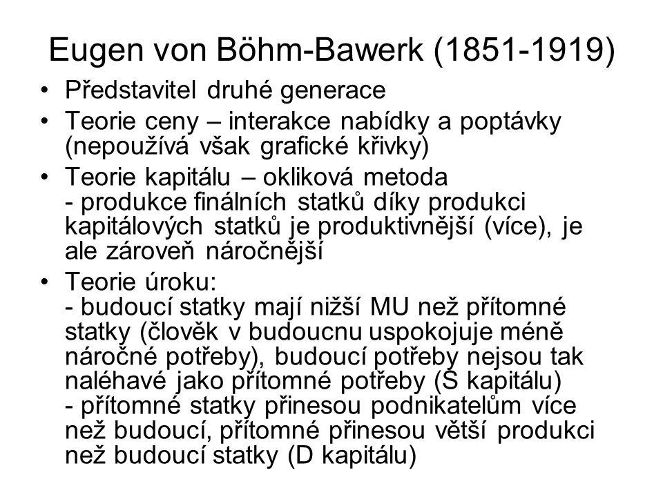 Eugen von Böhm-Bawerk (1851-1919)
