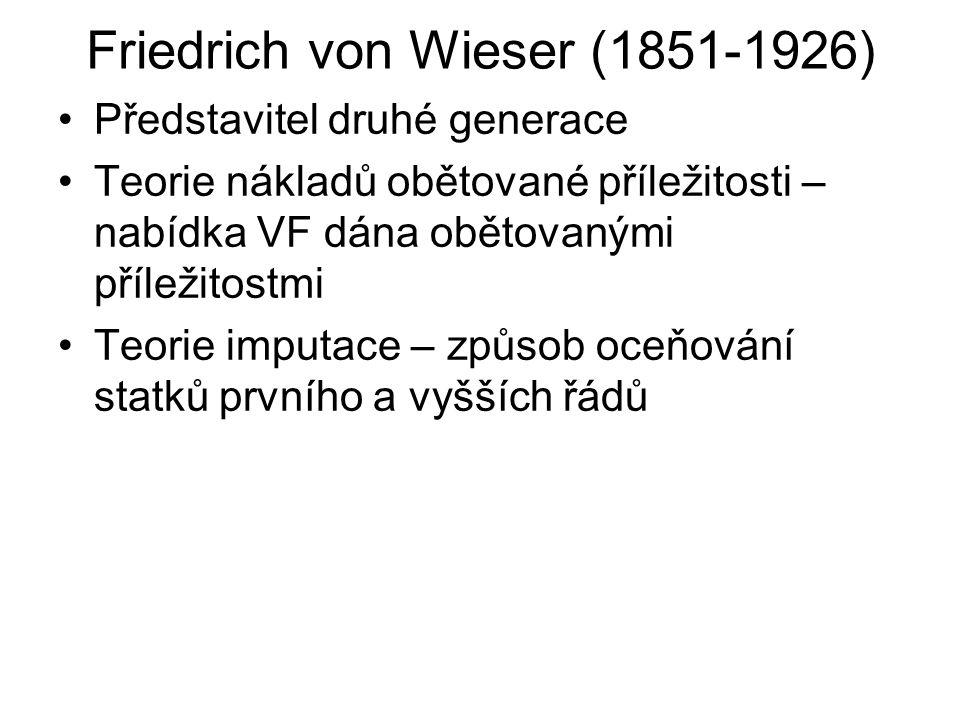 Friedrich von Wieser (1851-1926)