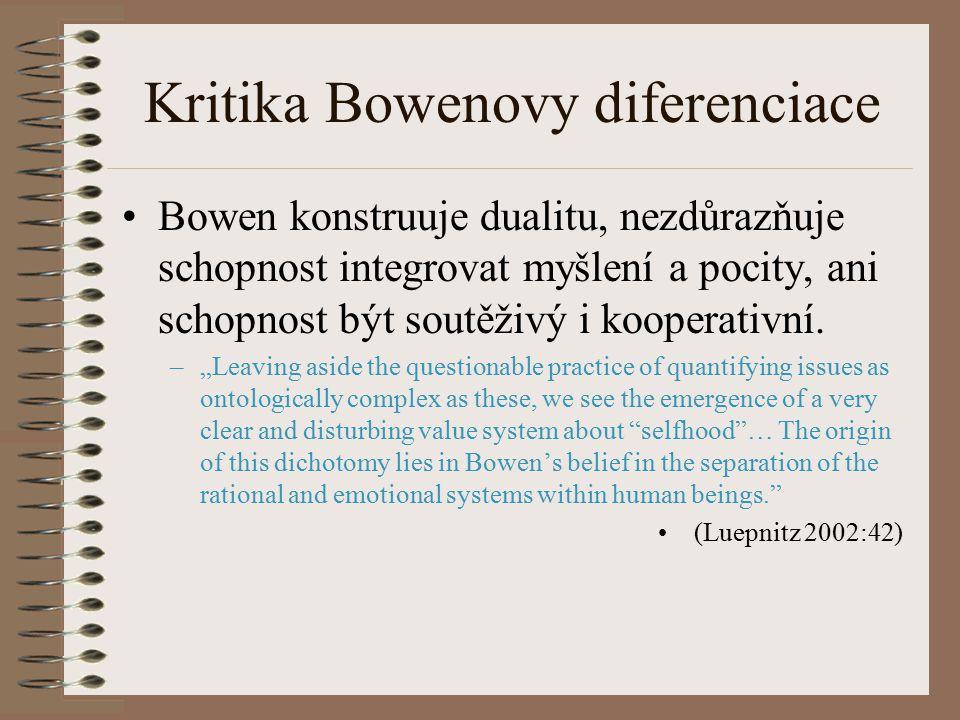 Kritika Bowenovy diferenciace