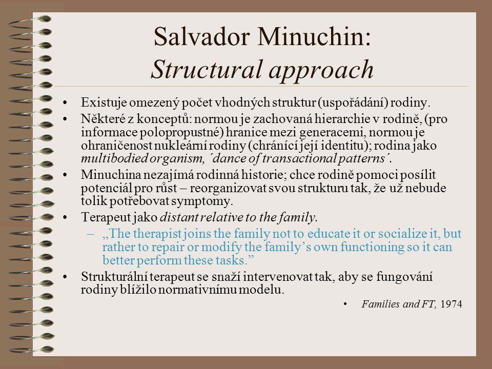 Salvador Minuchin: Structural approach