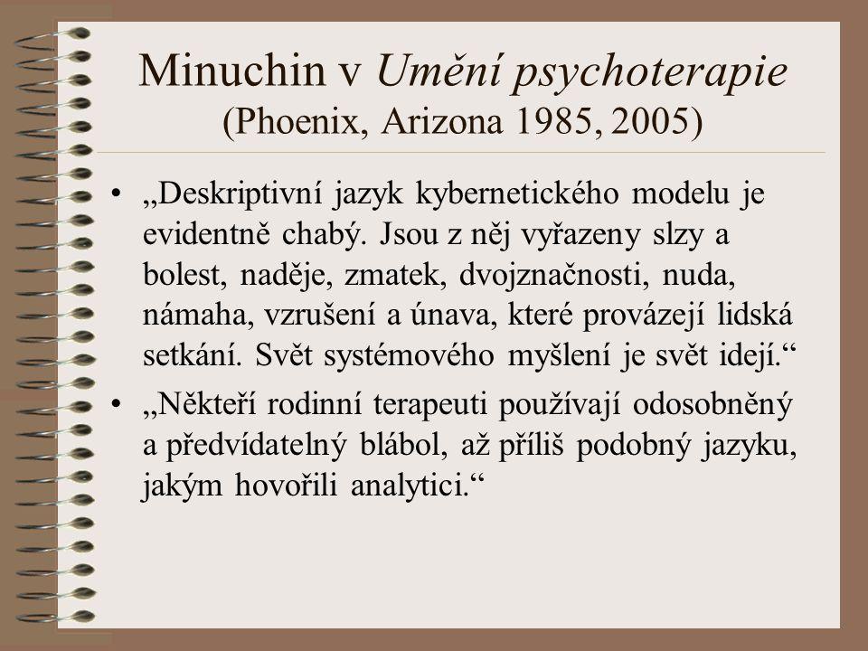 Minuchin v Umění psychoterapie (Phoenix, Arizona 1985, 2005)
