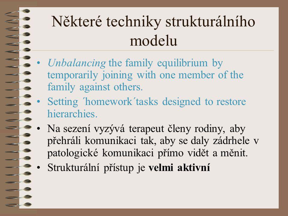 Některé techniky strukturálního modelu