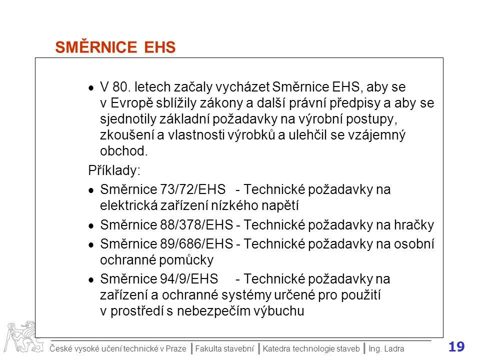 SMĚRNICE EHS