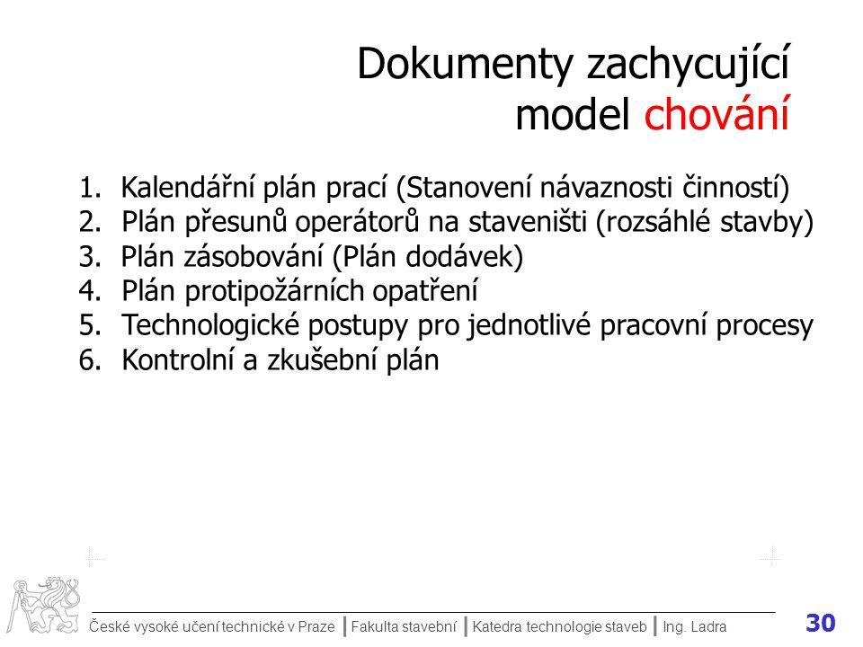 Dokumenty zachycující model chování