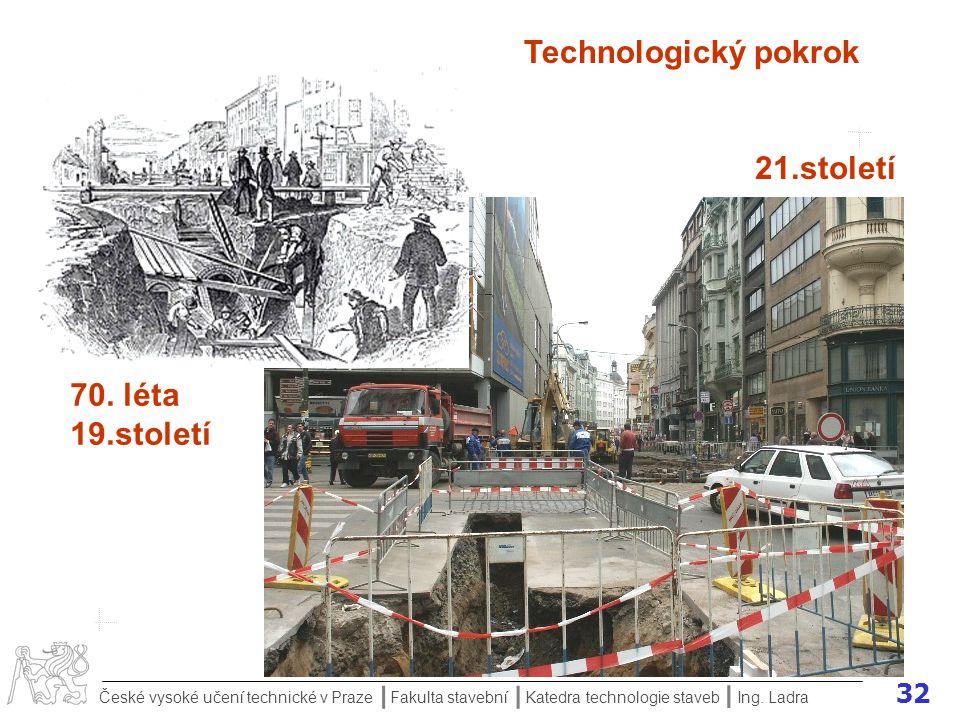 Technologický pokrok 21.století 70. léta 19.století Ing. Ladra