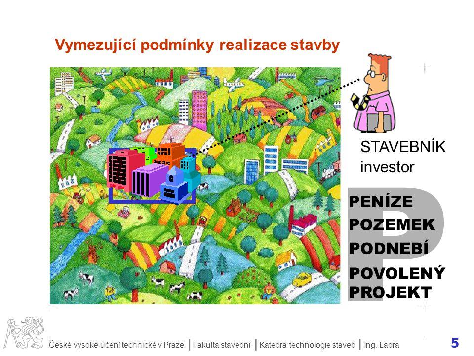 P Vymezující podmínky realizace stavby STAVEBNÍK investor PENÍZE