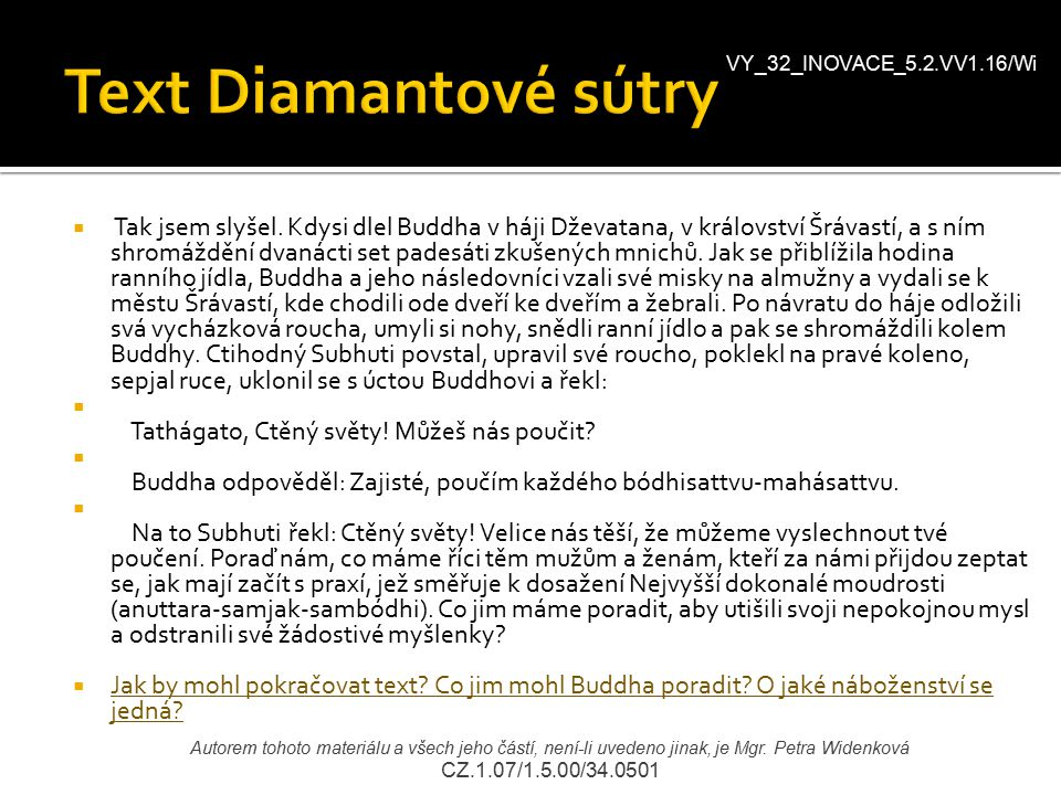 VY_32_INOVACE_5.2.VV1.16/Wi Text Diamantové sútry.