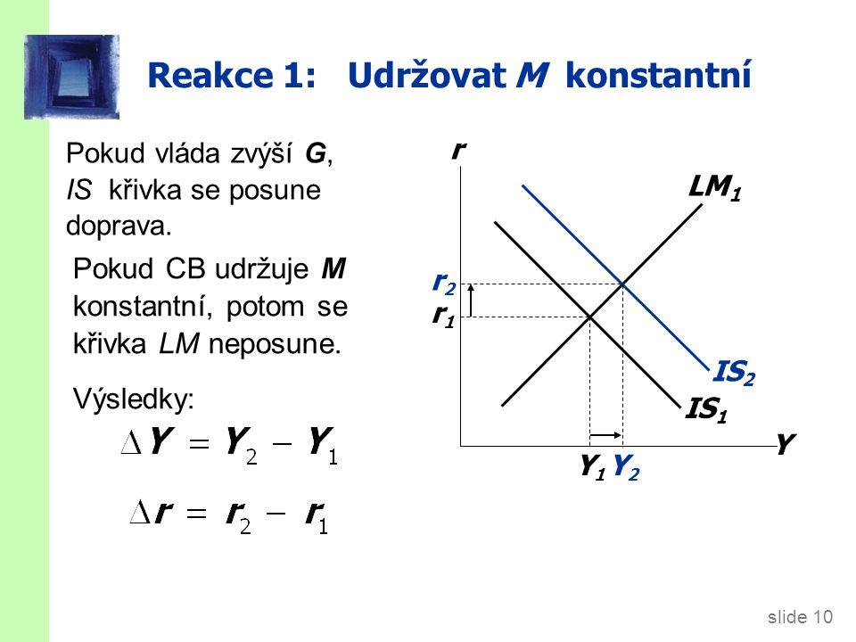 Reakce 2: Udržovat r konstantní