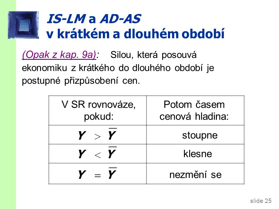 SR a LR důsledky IS šoku LM(P1) IS1 IS2 AD1 AD2 r