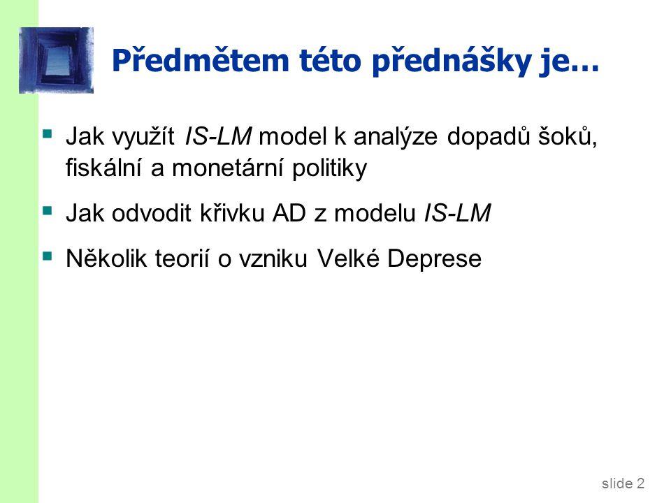 Rovnováha v IS -LM modelu