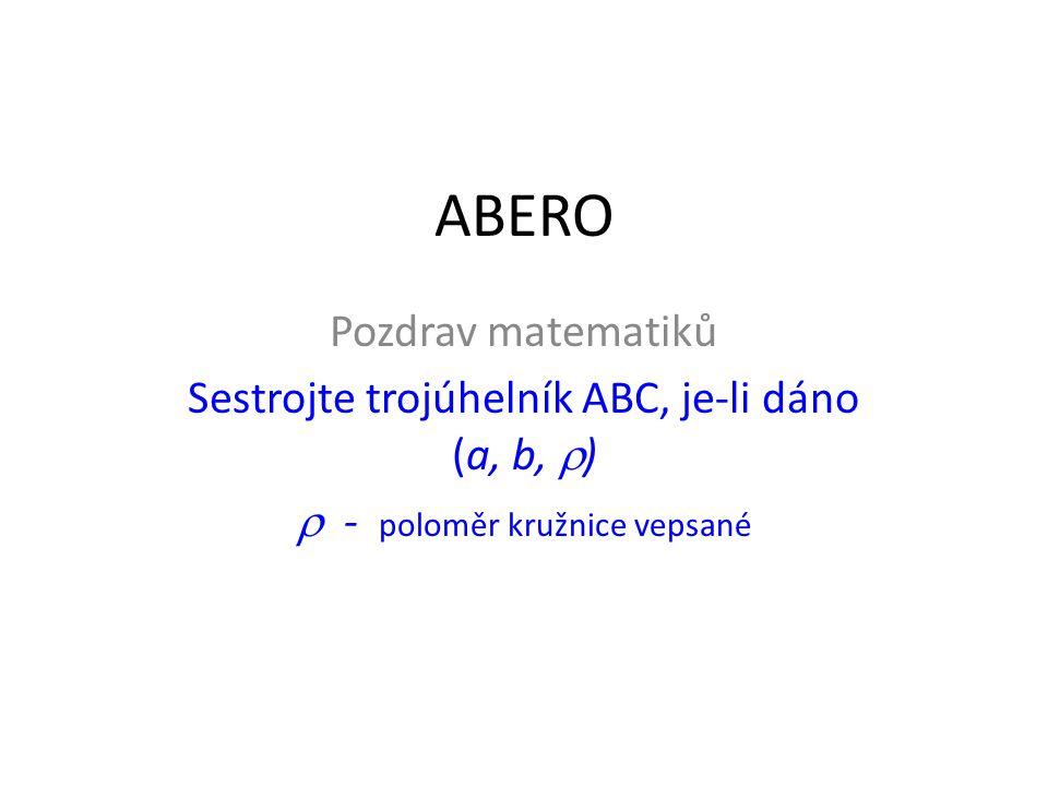 ABERO Pozdrav matematiků