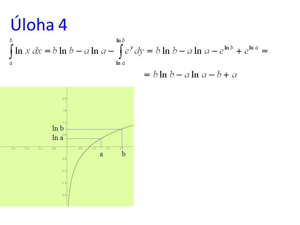 Úloha 4 ln b ln a a b