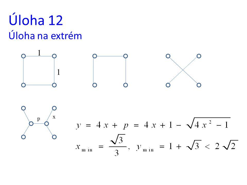 Úloha 12 Úloha na extrém 1 1 x p