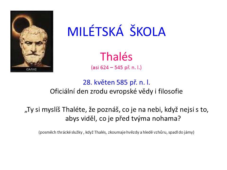 Oficiální den zrodu evropské vědy i filosofie