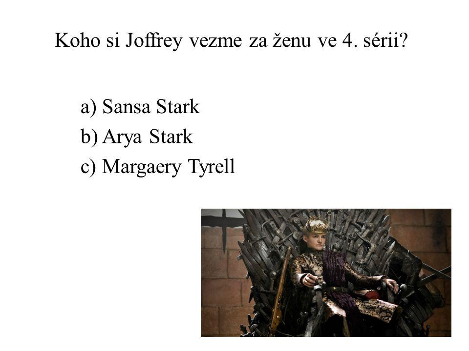 Koho si Joffrey vezme za ženu ve 4. sérii
