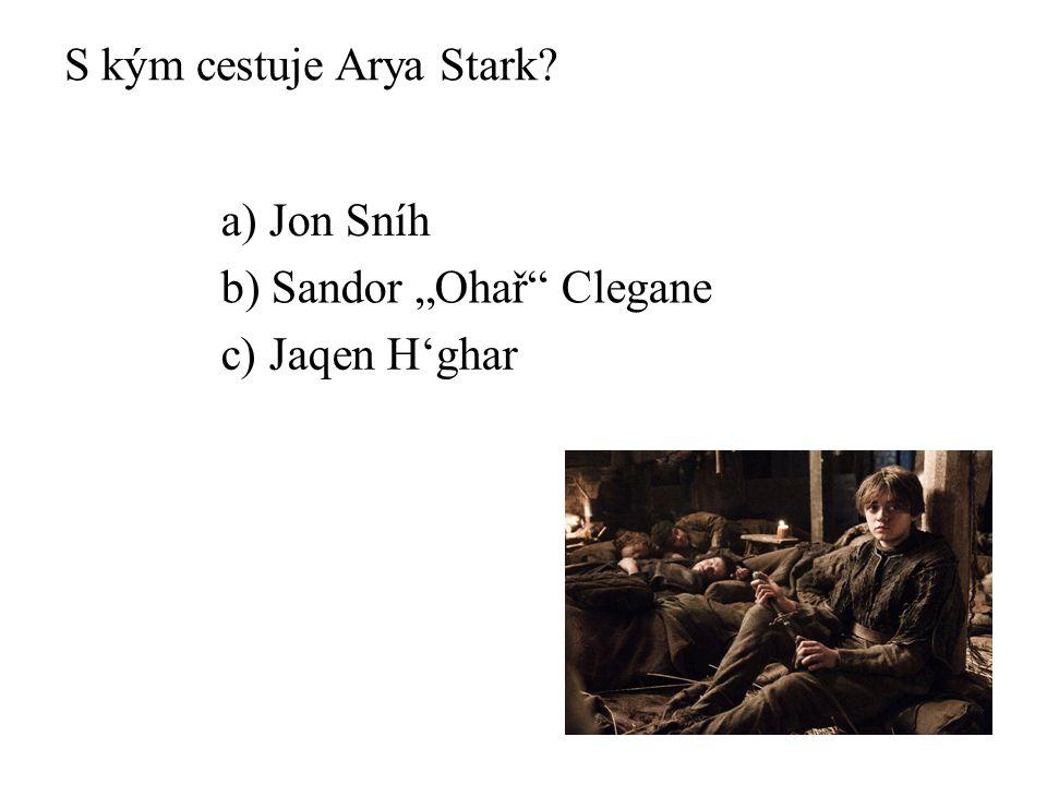 S kým cestuje Arya Stark