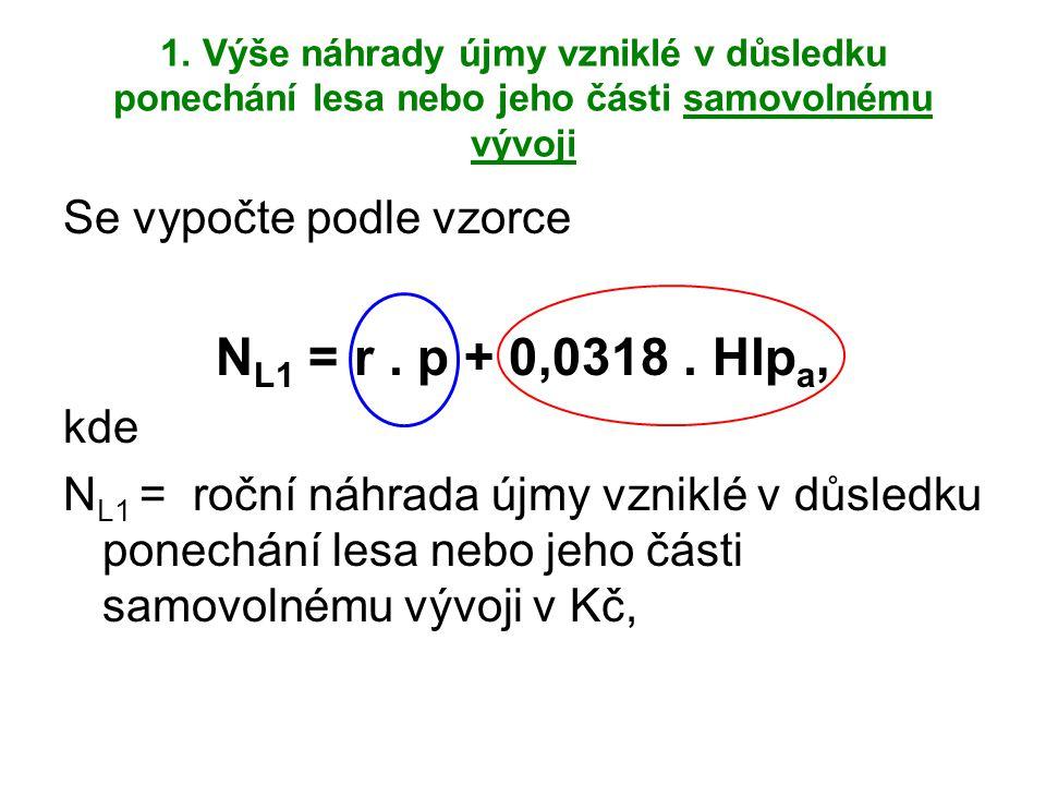NL1 = r . p + 0,0318 . Hlpa, Se vypočte podle vzorce kde