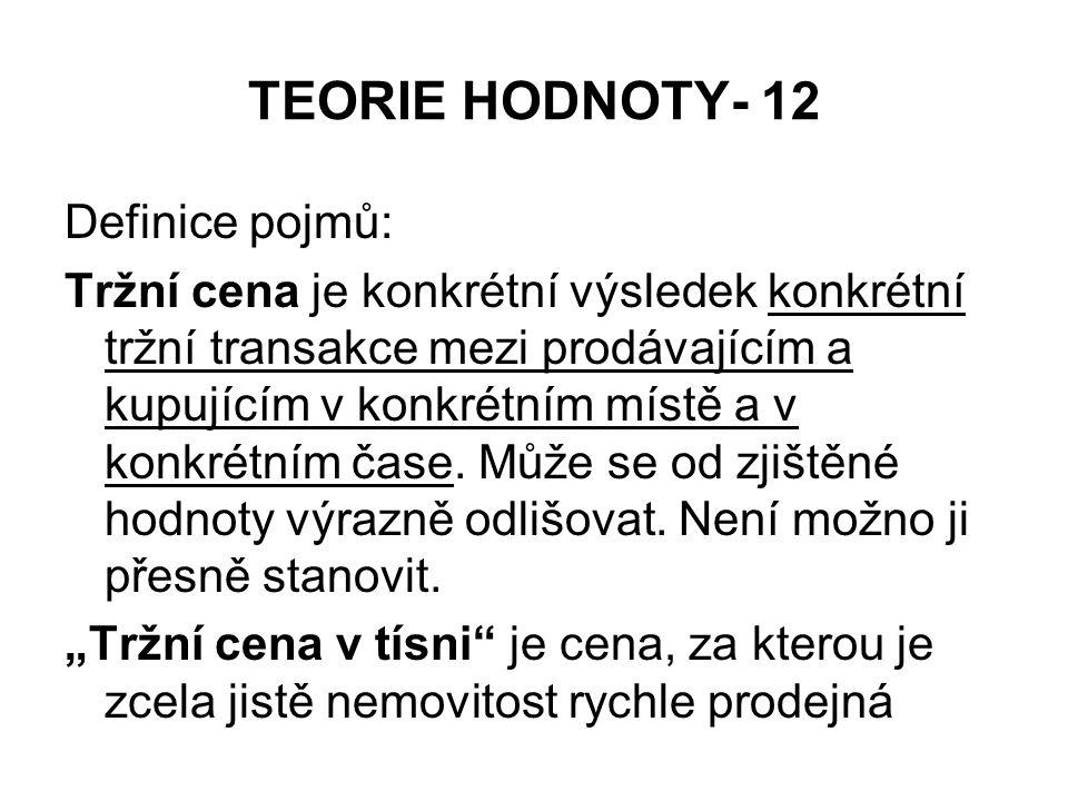 TEORIE HODNOTY- 12 Definice pojmů:
