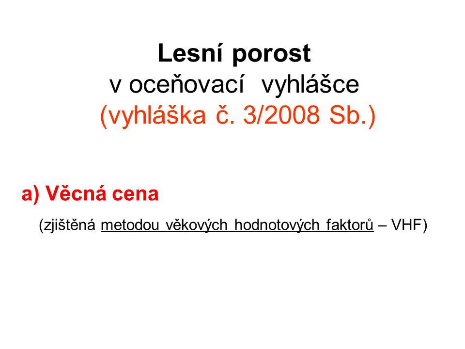Lesní porost v oceňovací vyhlášce (vyhláška č. 3/2008 Sb.)