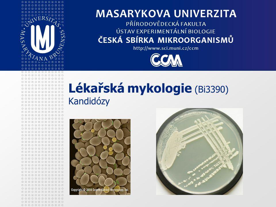 Lékařská mykologie (Bi3390) Kandidózy