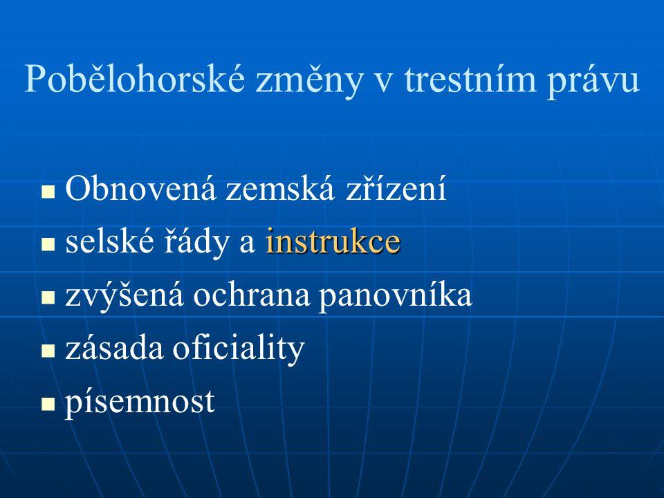 Pobělohorské změny v trestním právu