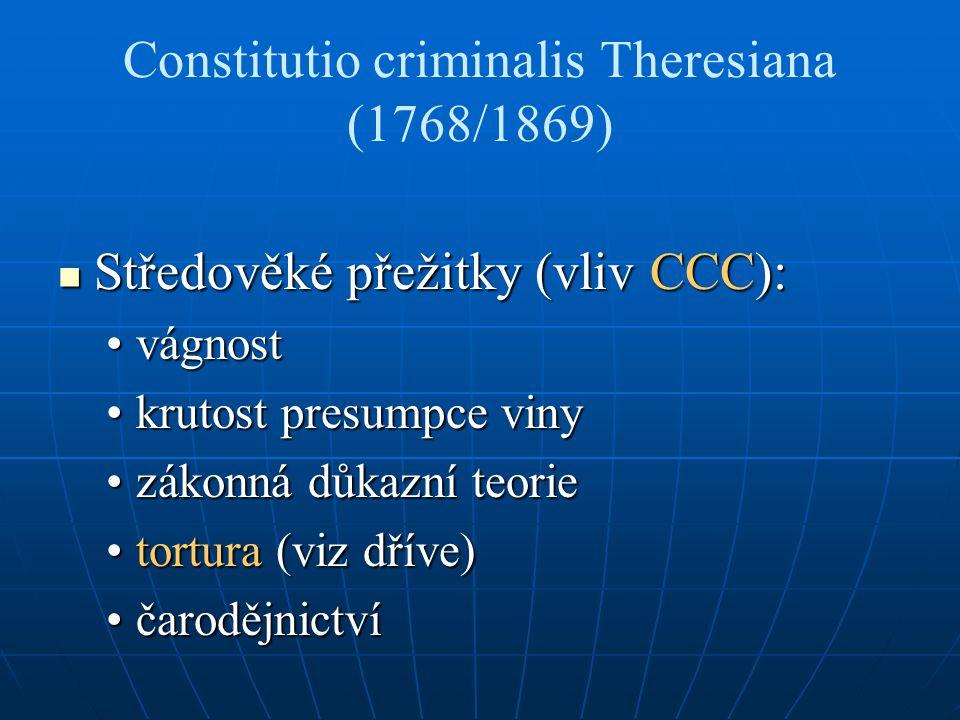 Constitutio criminalis Theresiana (1768/1869)
