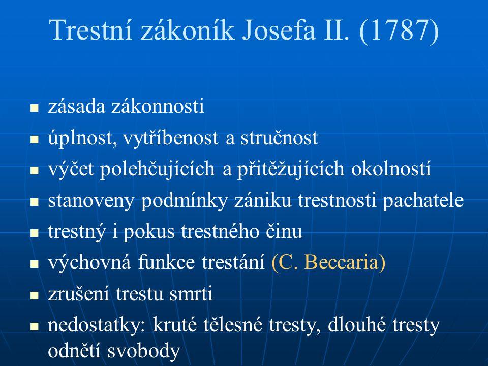 Trestní zákoník Josefa II. (1787)