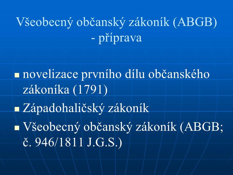 Všeobecný občanský zákoník (ABGB) - příprava