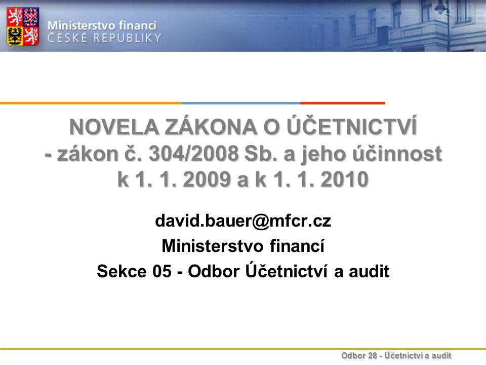 Sekce 05 - Odbor Účetnictví a audit
