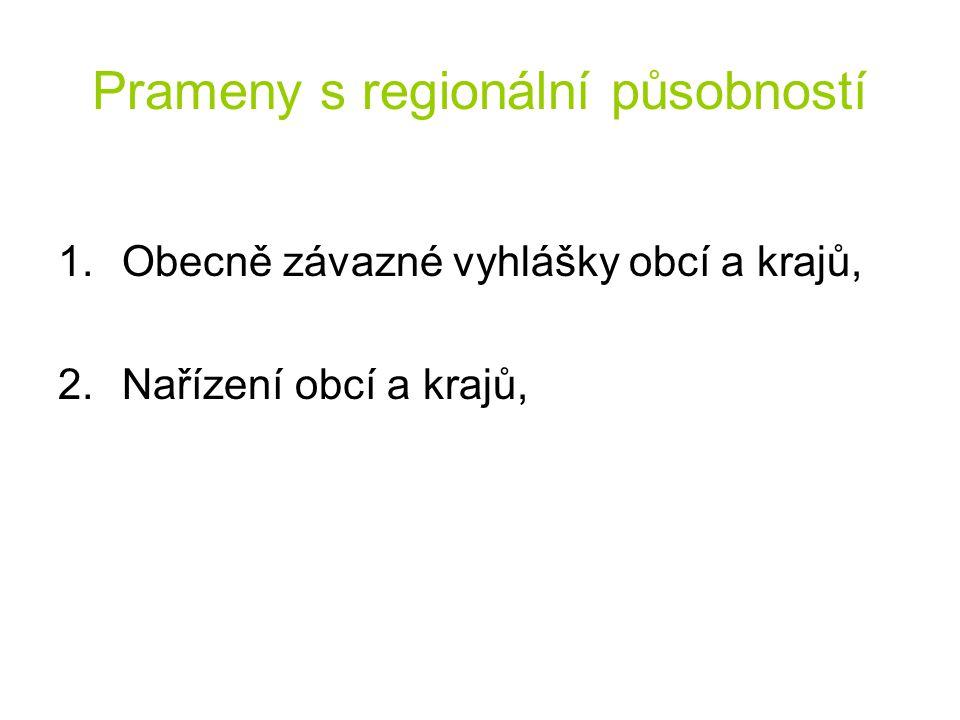 Prameny s regionální působností