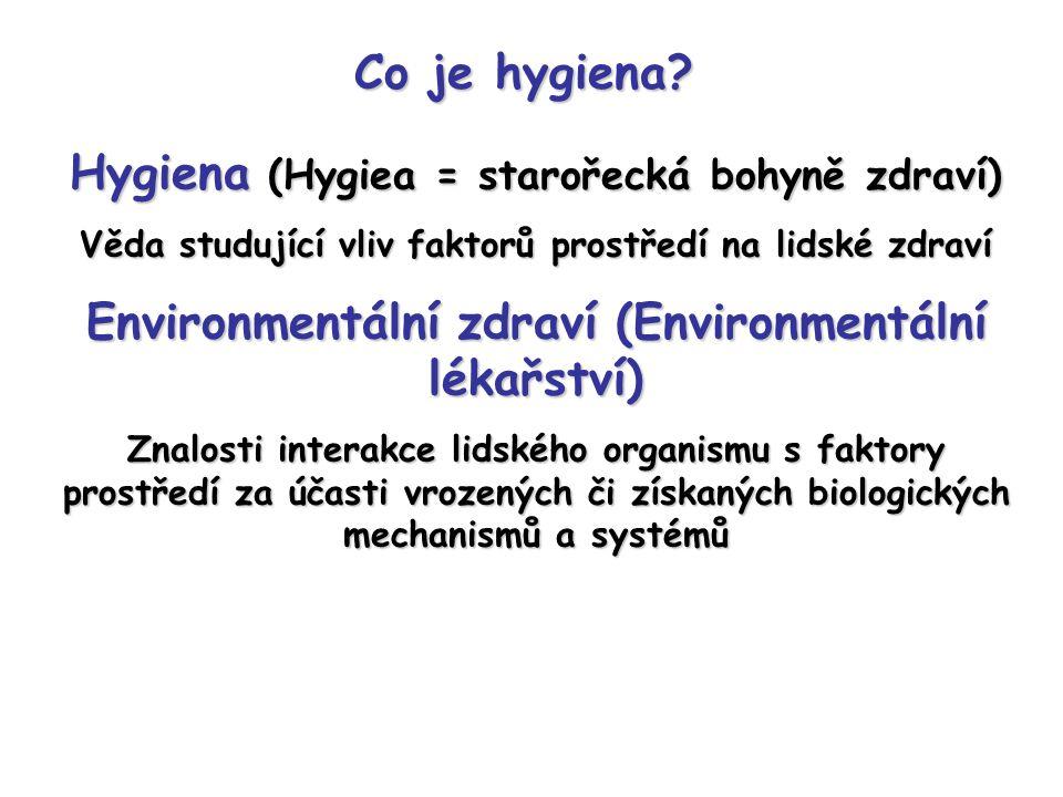 Hygiena (Hygiea = starořecká bohyně zdraví)