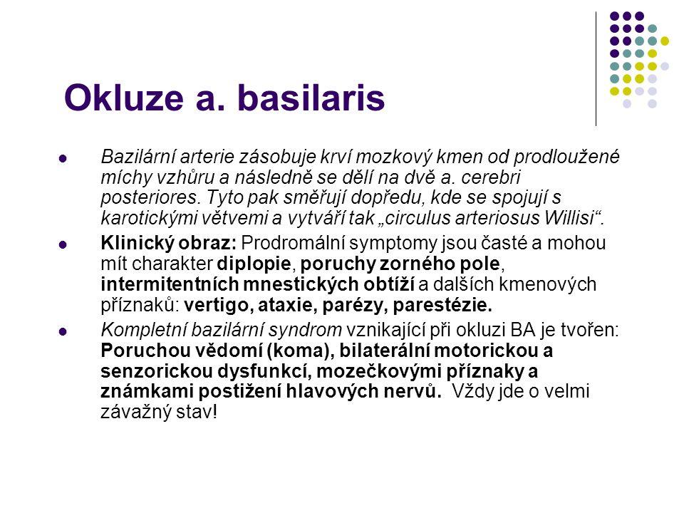 Okluze a. basilaris