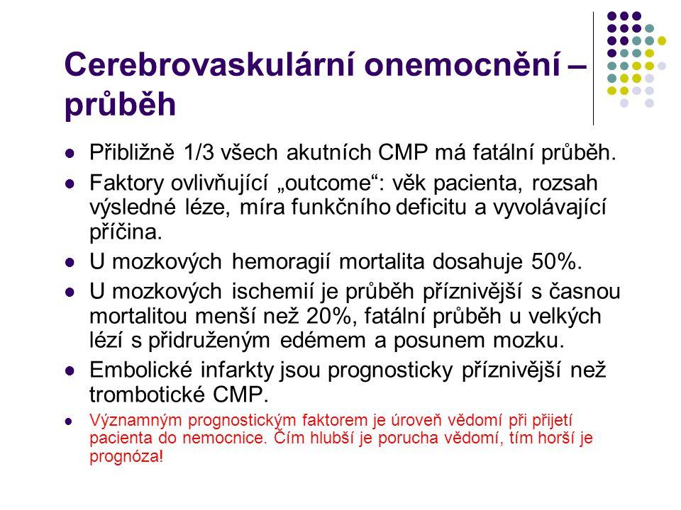 Cerebrovaskulární onemocnění – průběh