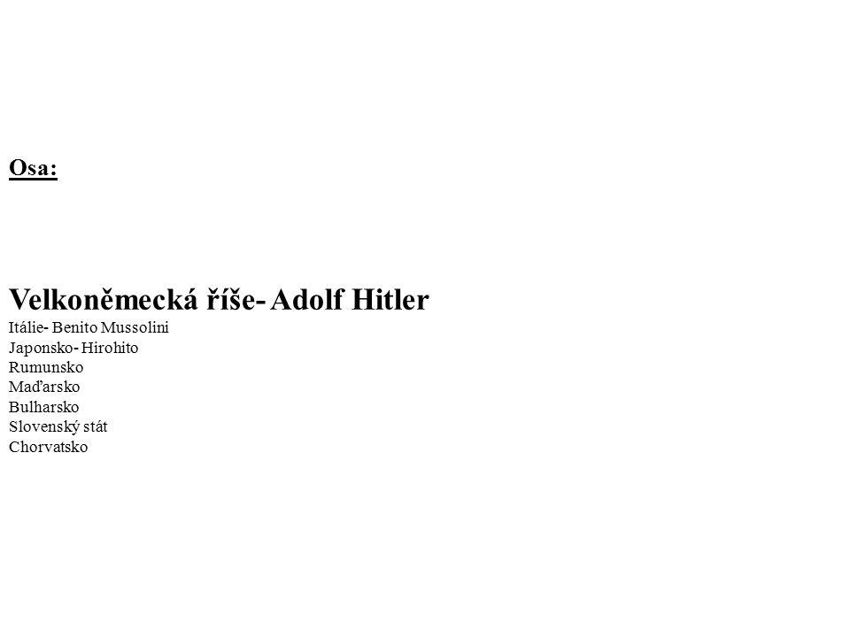 Velkoněmecká říše- Adolf Hitler