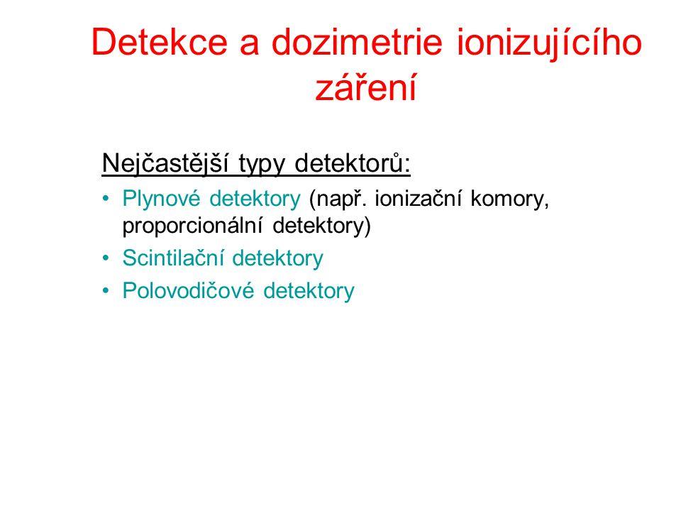 Detekce a dozimetrie ionizujícího záření
