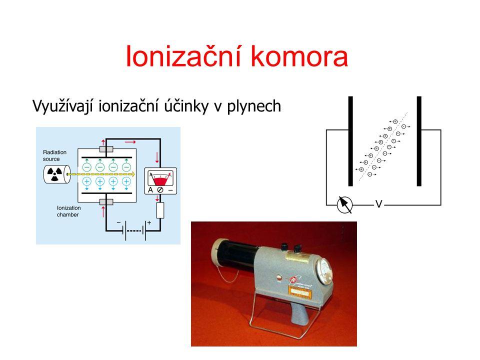 Využívají ionizační účinky v plynech