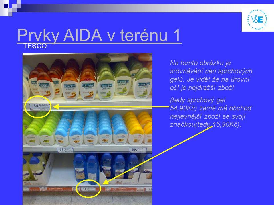 Prvky AIDA v terénu 1 TESCO