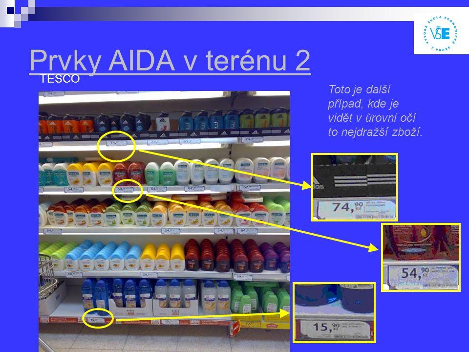Prvky AIDA v terénu 2 TESCO