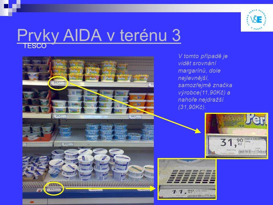 Prvky AIDA v terénu 3 TESCO