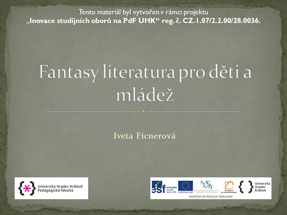 Fantasy literatura pro děti a mládež